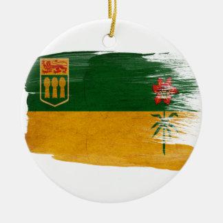 Saskatchewan Flag Round Ceramic Decoration
