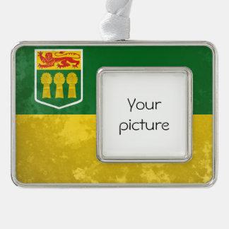 Saskatchewan Silver Plated Framed Ornament