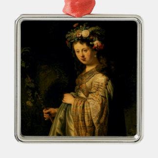 Saskia as Flora, 1634 Christmas Ornament