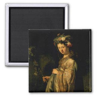 Saskia as Flora, 1634 Magnet
