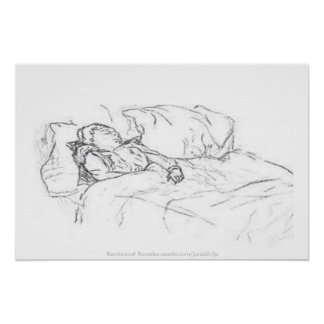Saskia Asleep In Bed, Rembrandt Remake-jlp Poster