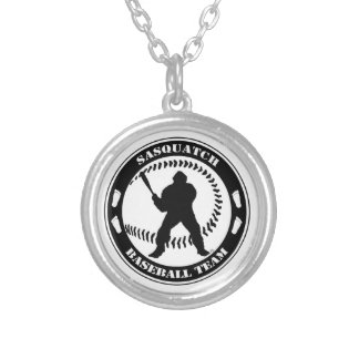 Sasquatch Baseball Team Silver Plated Necklace