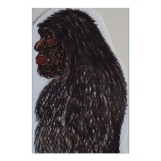 Sasquatch bigfoot 7 ft 6 in tall poster