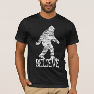 "SASQUATCH/BIGFOOT ""BELIEVE"" (distressed) T-shirt"
