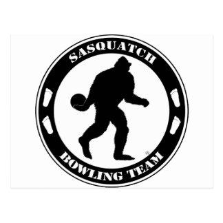 Sasquatch Bowling Team Postcard