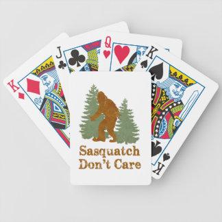 Sasquatch Don t Care Card Deck
