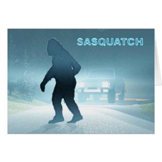 Sasquatch Encounter Greeting Card