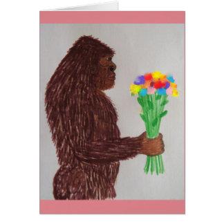 Sasquatch flowers love greeting card