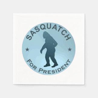 Sasquatch For President Disposable Napkin
