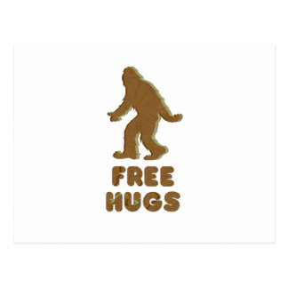 SASQUATCH - FREE HUGS POSTCARD