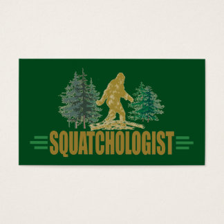 SASQUATCH - Funny Squatch Hunting Business Card