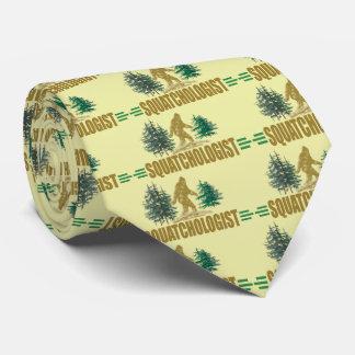 Sasquatch - Funny Squatchologist Tie