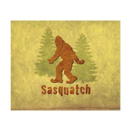 Sasquatch Giclée Stretched Canvas Prints