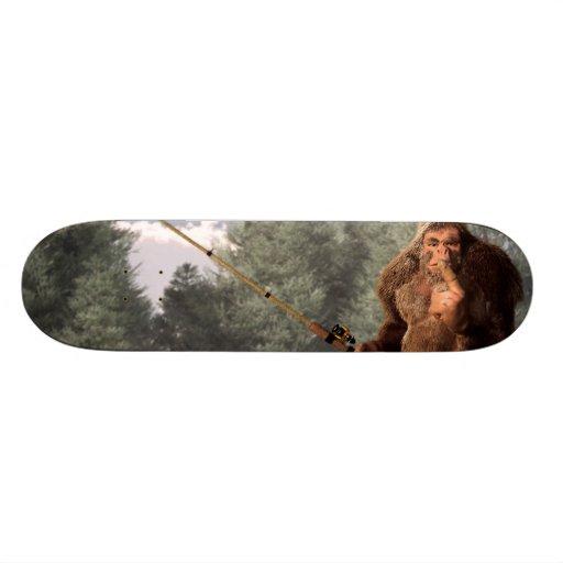 Sasquatch Goes Fishing Skateboard