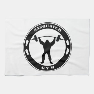 Sasquatch Gym Tea Towel
