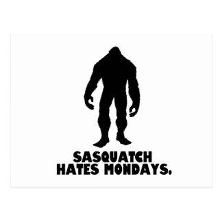 Sasquatch Hates Mondays Postcard