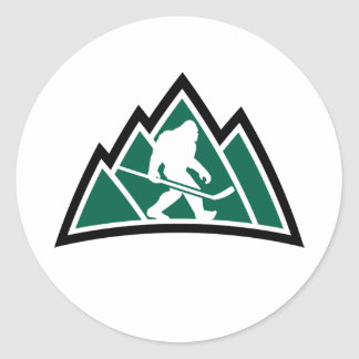 "Sasquatch Hockey 1"" round sticker (sheet of 20)"