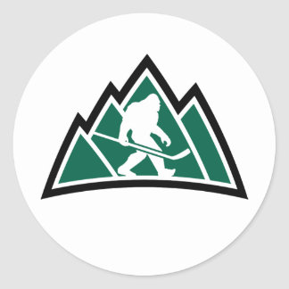 "Sasquatch Hockey 3"" round sticker (sheet of 6)"