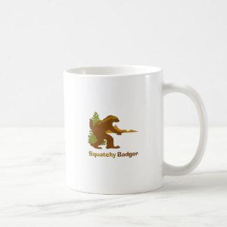 Sasquatch + Honey Badger + Love = Squatchy Badger Basic White Mug