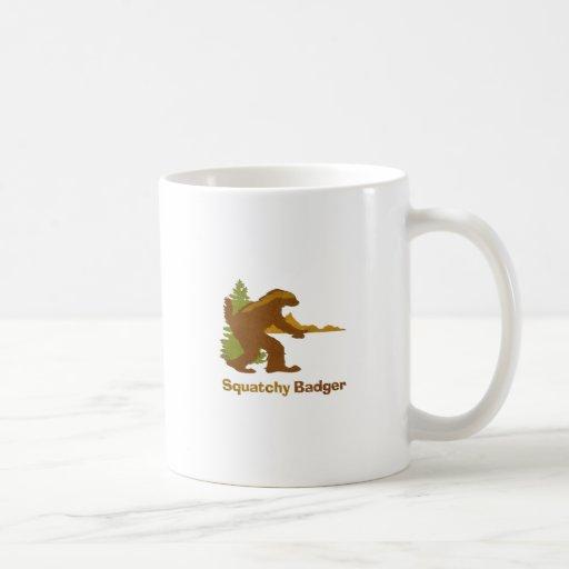 Sasquatch + Honey Badger + Love = Squatchy Badger Coffee Mug