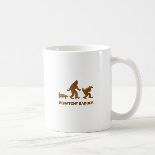 Sasquatch + Honey Badger + Love = Squatchy Badger Coffee Mugs