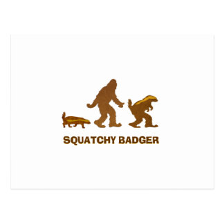 Sasquatch + Honey Badger + Love = Squatchy Badger Postcards