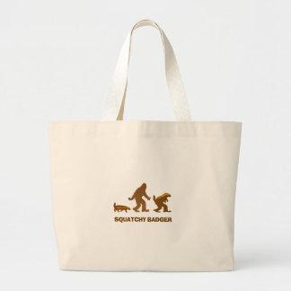 Sasquatch + Honey Badger + Love = Squatchy Badger Jumbo Tote Bag