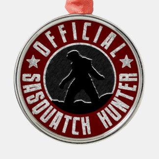 Sasquatch HUNTER Circle logo Christmas Ornament