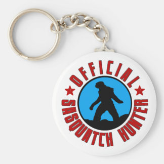 Sasquatch Hunter Keychain with Bigfoot.