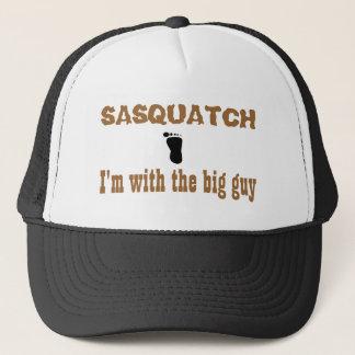 Sasquatch I'm with the big guy Trucker Hat