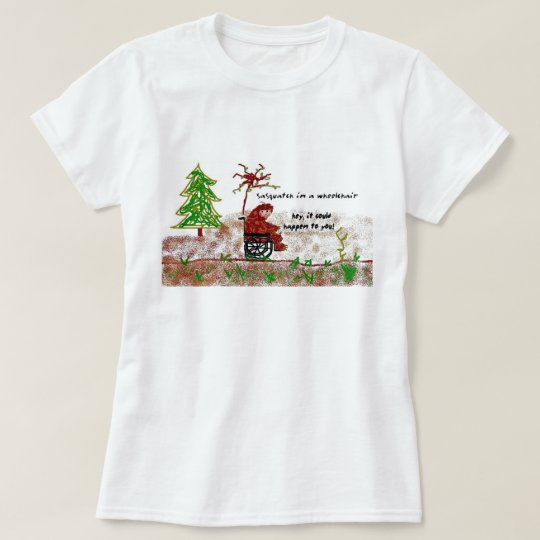sasquatch in a wheelchair T-Shirt