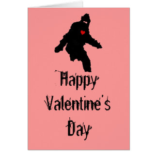 Sasquatch Love:  Happy Valentine's Day Greeting Card