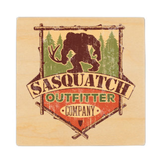 Sasquatch Outfitter Company Rustic Wooden Coasters Wood Coaster