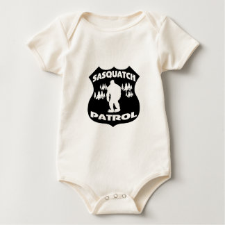 Sasquatch Patrol Forest Badge Baby Bodysuit