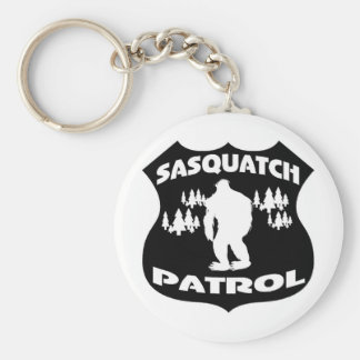 Sasquatch Patrol Forest Badge Basic Round Button Key Ring