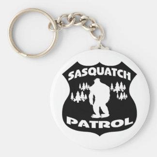 Sasquatch Patrol Forest Badge Keychains