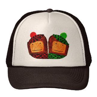 Sasquatch plaid pals mesh hats