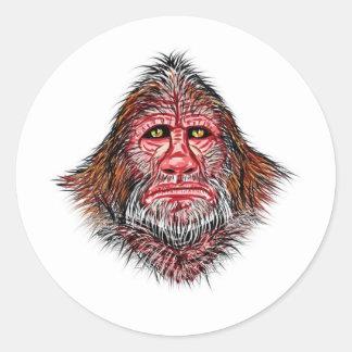 Sasquatch Portrait by Thomas Finley Classic Round Sticker