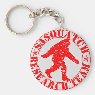 Sasquatch Research Team Basic Round Button Key Ring
