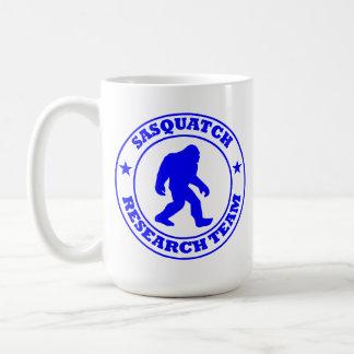 SASQUATCH RESEARCH TEAM - Bigfoot Pro's Blue Logo Basic White Mug