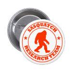 SASQUATCH RESEARCH TEAM - Bigfoot Pro's Red Logo 6 Cm Round Badge