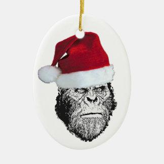 Sasquatch Santa Funny Christmas Tree Ornament