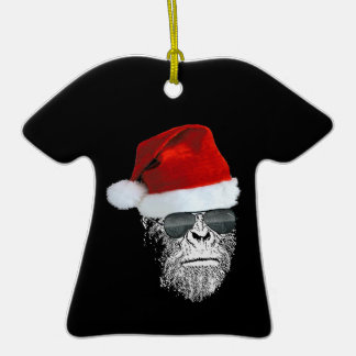 Sasquatch Secret Santa T-shirt Christmas Ornament