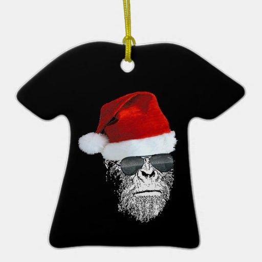 Sasquatch Secret Santa T-shirt Christmas Ornament
