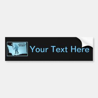 Sasquatch Security - Washington Bumper Sticker