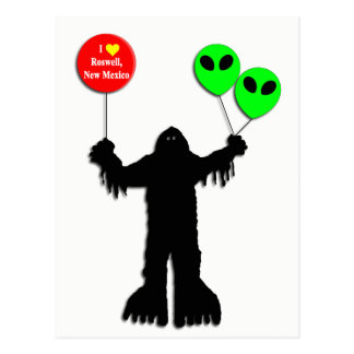 Sasquatch Sighted Roswell, New Mexico Postcard