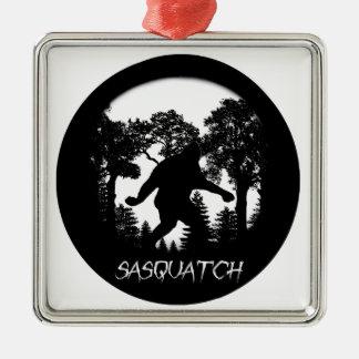 Sasquatch Silhouette Christmas Ornament
