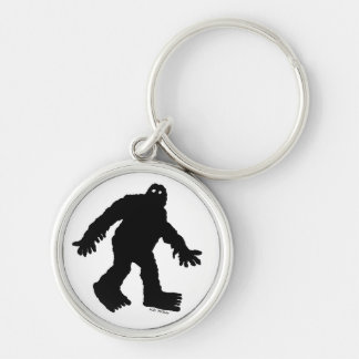 Sasquatch Silver-Colored Round Key Ring
