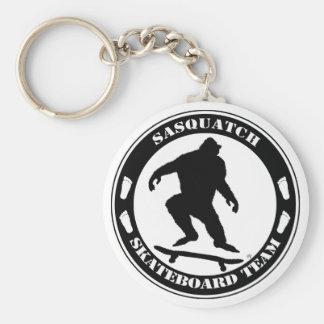 Sasquatch Skateboard Team Basic Round Button Key Ring