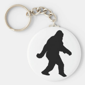 Sasquatch Squatchin' Silhouette Basic Round Button Key Ring